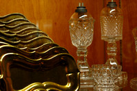 Steamship Arabia solid gold trays and crystal lamps