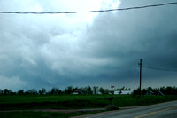 East of Clearwater...its coming in, we had up drafts of COLD air