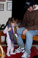 bell & Rich playing in Mardi Gras beads 2
