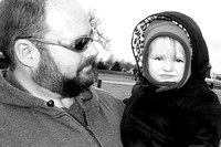002 Sammi & Daddy - she's upset with the cold wind